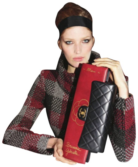Chanel Flap Rare Burgundy & Black Clutch Image 1