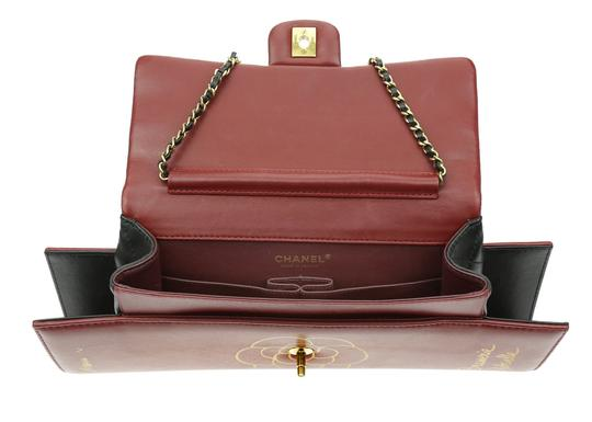 Chanel Flap Rare Burgundy & Black Clutch Image 6