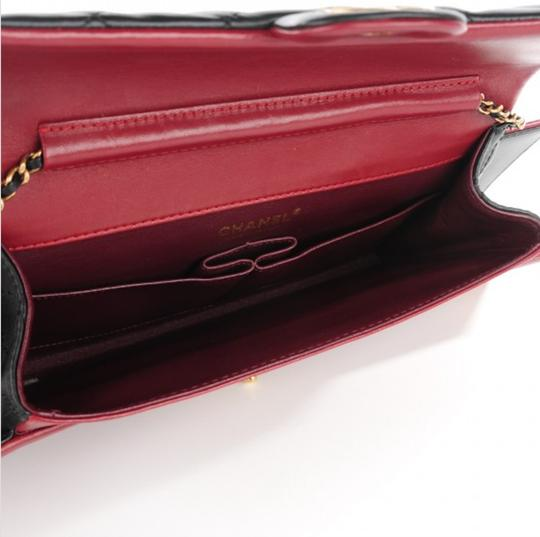 Chanel Flap Rare Burgundy & Black Clutch Image 8