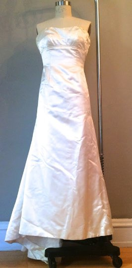 Vera Wang Ivory Duchesse Satin Silk 95 Formal Wedding Dress Size 4 S Tradesy