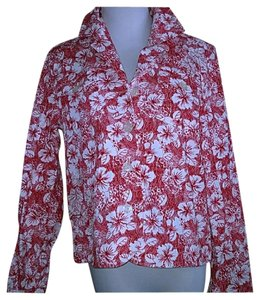 Christopher & Banks Red and white Blazer