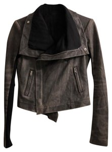VEDA grey Leather Jacket