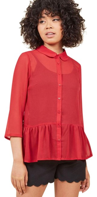 Preload https://img-static.tradesy.com/item/22346860/modcloth-red-provence-peplum-button-up-3xl-blouse-size-26-plus-3x-0-1-650-650.jpg