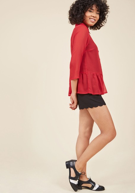 Modcloth Top red Image 1