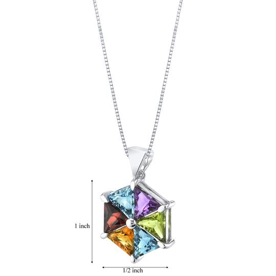 Other Multistone Geometric Pendant Image 1
