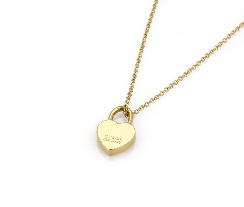 Tiffany Amp Co Yellow Gold Quot Please Return Quot Heart Padlock