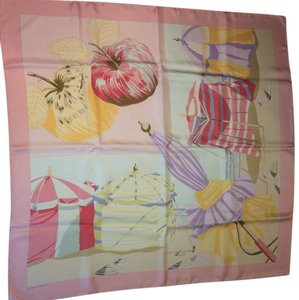 Hermes Hermes Classic Pink Rare Plages Normandes Scarf