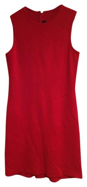 Item - Red Knit Short Work/Office Dress Size 4 (S)