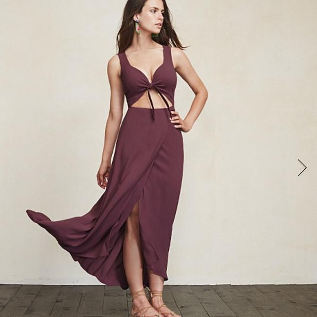 Plum Maxi Dress by Reformation Image 1