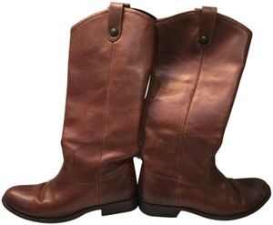 Frye Knee-high Buttons Distinguish True To Size Riding Leather Upper Cognac Boots