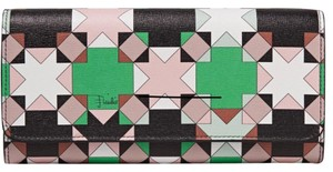 Emilio Pucci Printed Texured-Leather Wallet