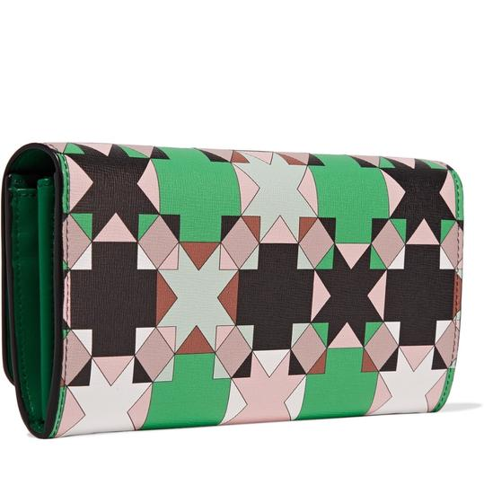 Emilio Pucci Printed Texured-Leather Wallet Image 1