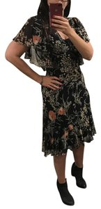 Anthropologie short dress Black floral Sheer Fall on Tradesy