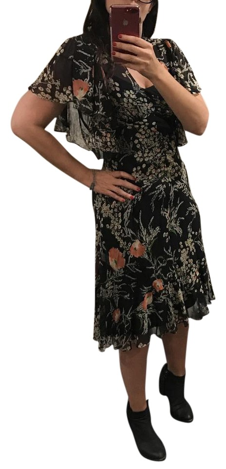 08c488c2c95a Anthropologie short dress Black floral Sheer Fall on Tradesy Image 0 ...