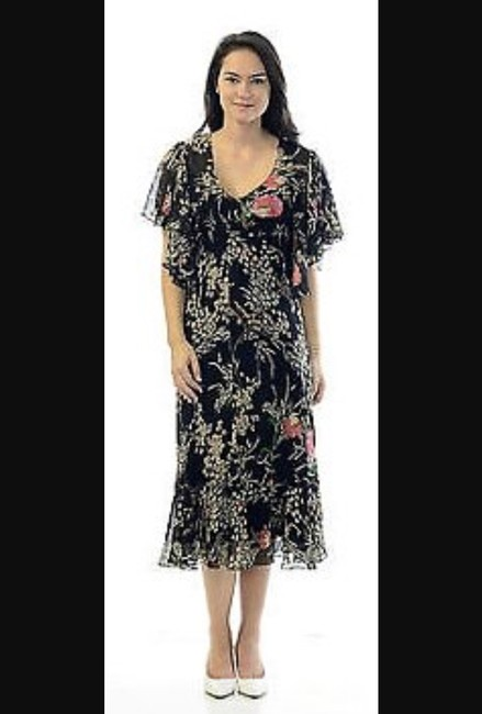 Anthropologie short dress Black floral Sheer Fall on Tradesy Image 1
