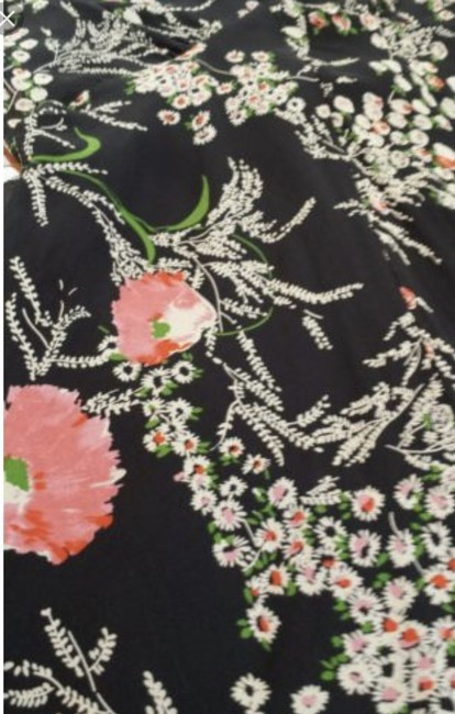 Anthropologie short dress Black floral Sheer Fall on Tradesy Image 2