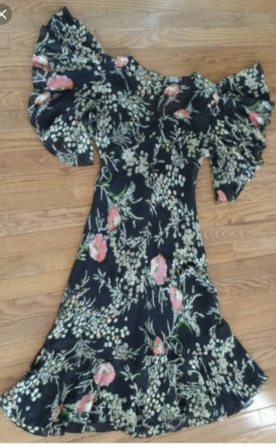 Anthropologie short dress Black floral Sheer Fall on Tradesy Image 3