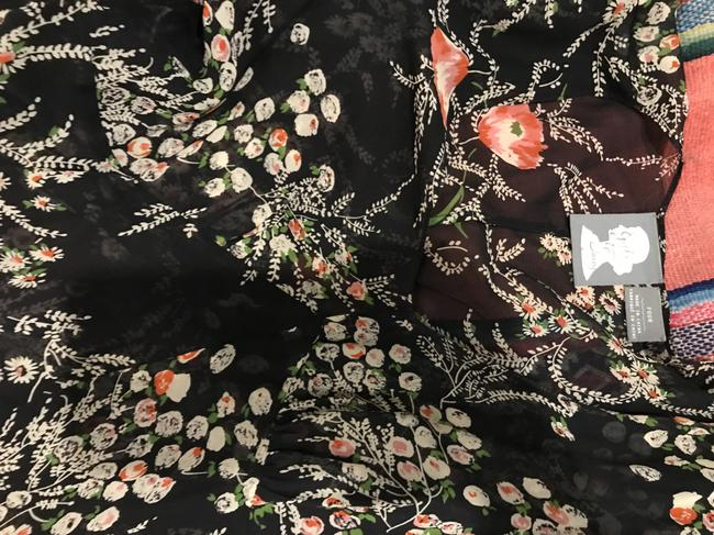 Anthropologie short dress Black floral Sheer Fall on Tradesy Image 4