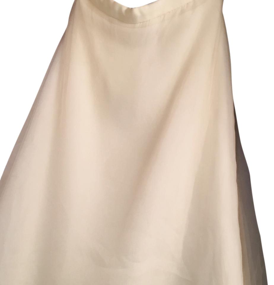 Watters ivory silk brand skirt only casual wedding dress for Wedding dress skirt only