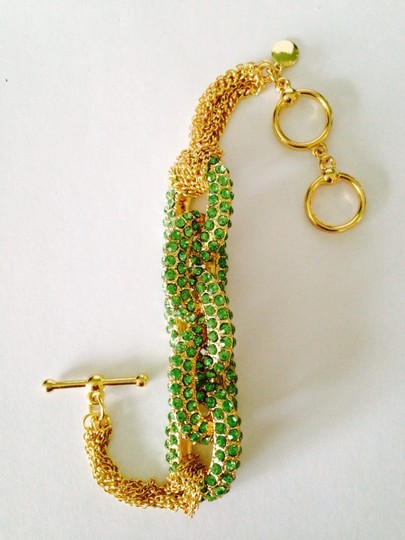 Other NWOT Green Cubic Zirconia Large Link & Chain Bracelet