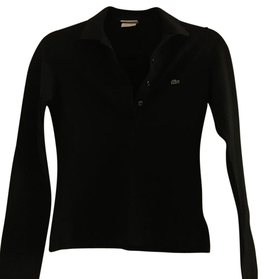 Lacoste black classic pique polo tee shirt size 0 xs for Lacoste size 4 polo shirt