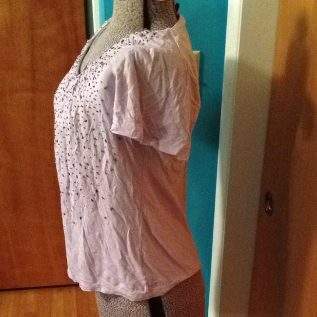 Talbots Beads Extra Beads T Shirt Lavender / Purple