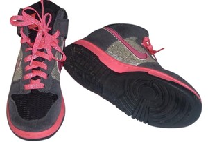 Nike Glitter Sparkle Dunk Lace Up Pink Athletic