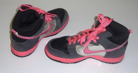 Nike Glitter Sparkle Dunk Lace Up Pink Athletic Image 2