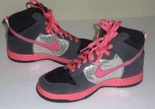 Nike Glitter Sparkle Dunk Lace Up Pink Athletic Image 3
