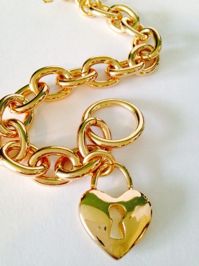 Other NWOT Heart & Key Link Gold-Tone Bracelet