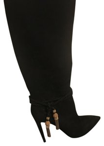Ralph Lauren Collection Tassle Gently Used Suede Black Boots