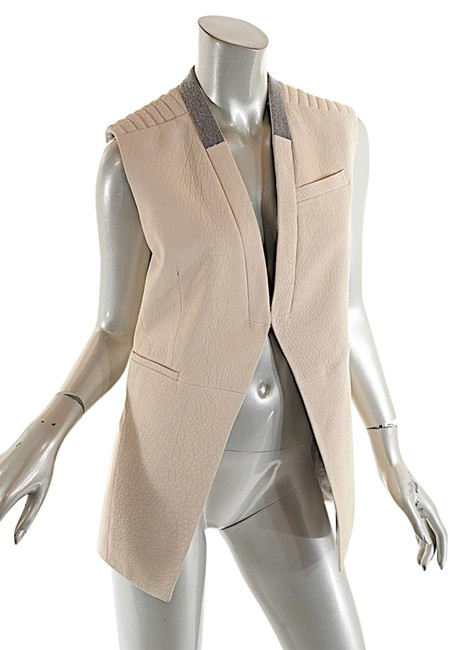 Preload https://img-static.tradesy.com/item/22348404/brunello-cucinelli-putty-beige-leather-with-silver-bead-trim-vest-size-6-s-0-1-650-650.jpg