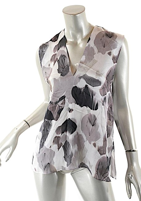 Helmut Lang Silk Top Black White Grey Image 0