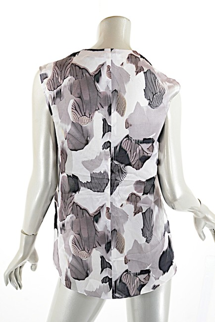 Helmut Lang Silk Top Black White Grey Image 1