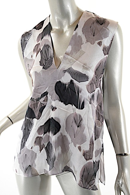 Helmut Lang Silk Top Black White Grey Image 5