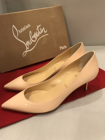 Christian Louboutin Pigalle Follies Patent Leather Kitten Poudre (Light Pink) Pumps Image 1