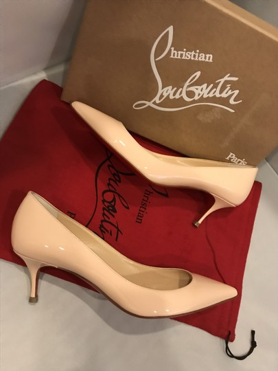 Christian Louboutin Pigalle Follies Patent Leather Kitten Poudre (Light Pink) Pumps Image 4