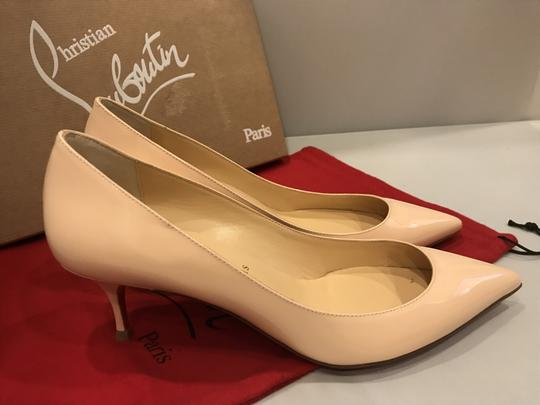 Christian Louboutin Pigalle Follies Patent Leather Kitten Poudre (Light Pink) Pumps Image 5