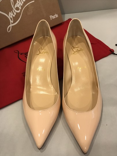 Christian Louboutin Pigalle Follies Patent Leather Kitten Poudre (Light Pink) Pumps Image 6