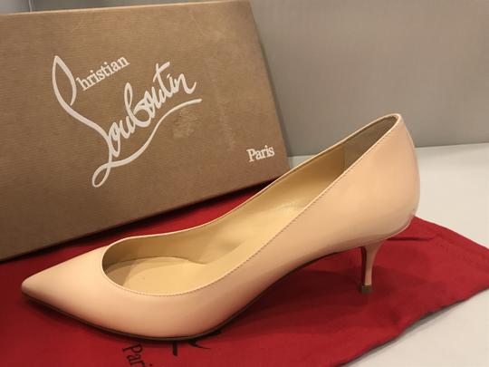 Christian Louboutin Pigalle Follies Patent Leather Kitten Poudre (Light Pink) Pumps Image 7