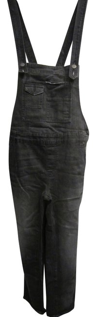 Item - Black Distressed Washed Denim Overall Skinny Jeans Size 27 (4, S)