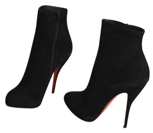 Christian Louboutin Feticha Suede Black Boots