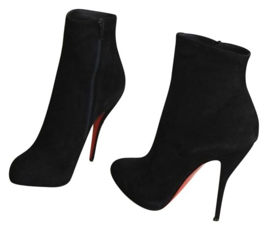 Christian Louboutin Feticha Suede Black Boots Image 0