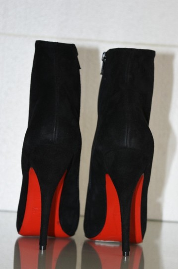Christian Louboutin Feticha Suede Black Boots Image 1