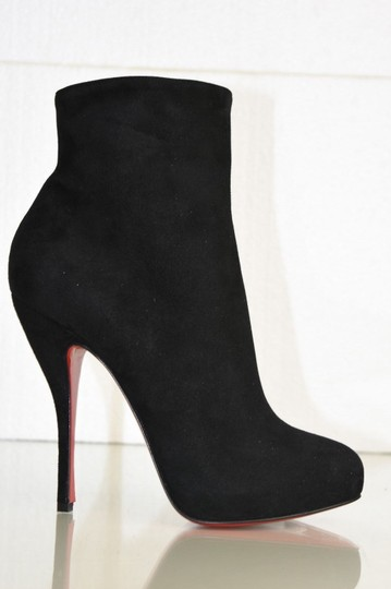 Christian Louboutin Feticha Suede Black Boots Image 3