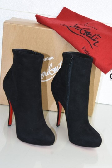 Christian Louboutin Feticha Suede Black Boots Image 4