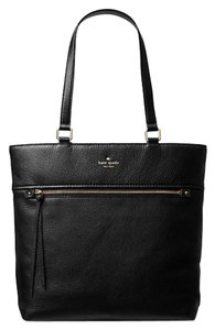 Kate Spade Shopper Leather Leather Tote in Black