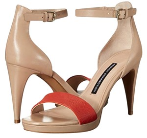 French Connection Leather High Heel Elegant Nude beige Pumps