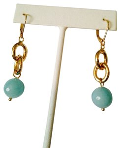 Other NWOT Faceted Amazonite Bead & Link Earrings