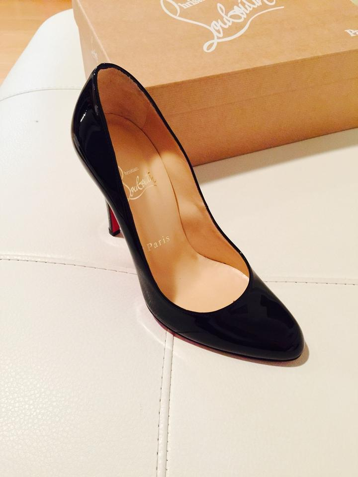 c6260f64b780 Christian Louboutin Decollete 868 100 Patent Calf Leather Heel Black Pumps  Image 3. 1234
